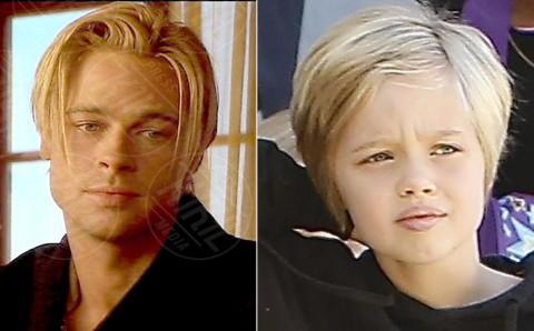 Knox Leon Jolie Pitt, Brad Pitt - Los Angeles - 05-02-2014 - Sei uguale ai tuoi genitori! I vip ricorrono alla clonazione?