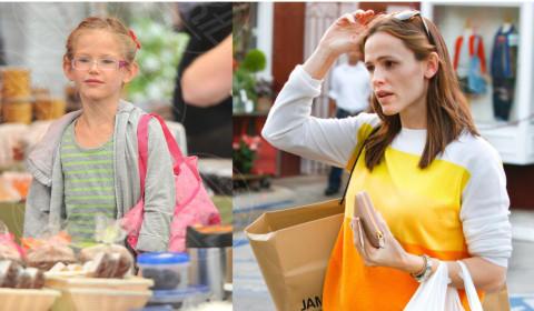 Violet Anne Affleck, Jennifer Garner - 11-09-2013 - Stefano e Santiago De Martino: due gocce d'acqua