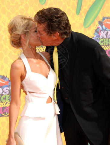 Hayley Roberts, David Hasselhoff - Los Angeles - 29-03-2014 - David Hasselhoff sposo in Italia con la sua Hayley