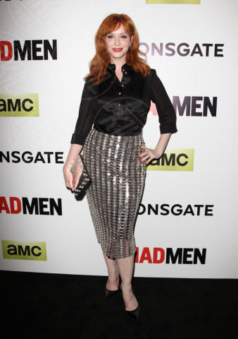 Christina Hendricks - Hollywood - 02-04-2014 - Chi lo indossa meglio? Ecco i look brillanti per le feste!