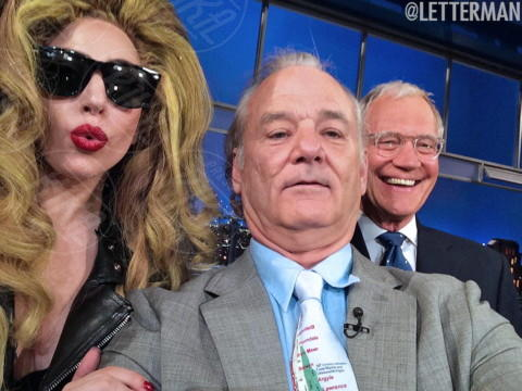 Lady Gaga, David Letterman, Bill Murray - New York - 03-04-2014 - Il bastone per i Selfie? È superato! Arrivano le Shoefie