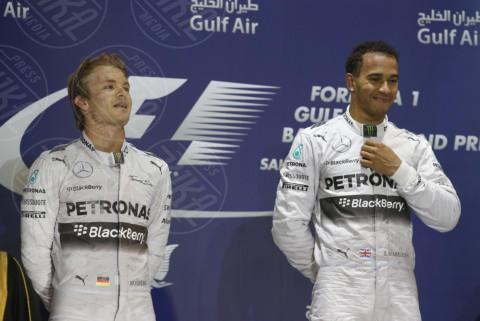 Formula 1, Nico Rosberg, Lewis Hamilton - Sakhir - 06-04-2014 - Formula 1: La Mercedes trionfa anche in Bahrain
