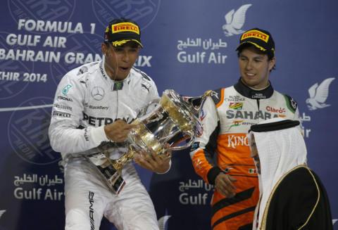 Sergio Perez, Formula 1, Lewis Hamilton - Sakhir - 06-04-2014 - Formula 1: La Mercedes trionfa anche in Bahrain