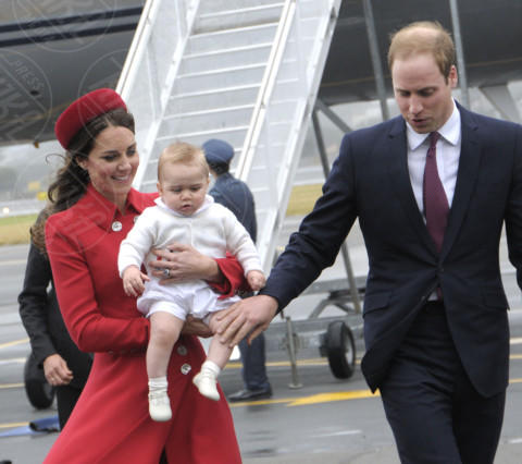 Principe George, Principe William, Kate Middleton - Wellington - 07-04-2014 - Primo Ministro? Presidente? No, mammo