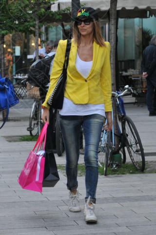 Cristina Chiabotto - Milano - 09-04-2014 - Il giallo, un trend perchè torni a splendere il sole