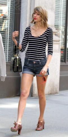 Taylor Swift - New York - 12-04-2014 - Uno shorts non fa primavera… ma tutti questi sì!