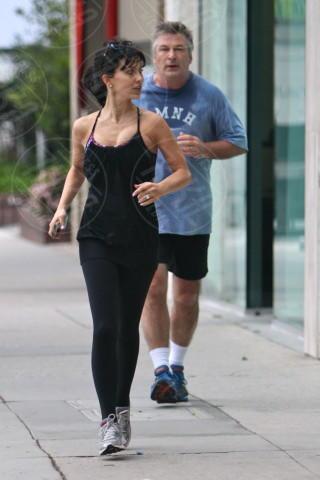 Hilaria Thomas, Alec Baldwin - Los Angeles - 12-04-2014 - Lo sport? Decisamente è meglio in coppia...