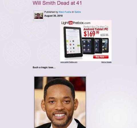 Will Smith - Los Angeles - 29-12-2010 - Britney Spears è morta: il web si dispera, ma era una bufala
