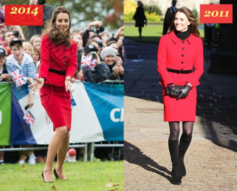 Kate Middleton è la signora in rosso… di nuovo!