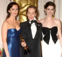 Milena Canonero, Emily Blunt, Anne Hathaway - Hollywood - 27-02-2007 - Da Fellini a Morricone, quando il cinema italiano è da Oscar