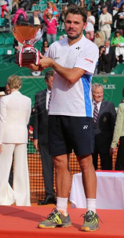 Stanislas Wawrinka - Monte Carlo - 20-04-2014 - Rolex Master Monte Carlo: la gara in doppio è sugli spalti