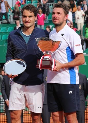 Stanislas Wawrinka, Roger Federer - Monte Carlo - 20-04-2014 - Rolex Master Monte Carlo: la gara in doppio è sugli spalti