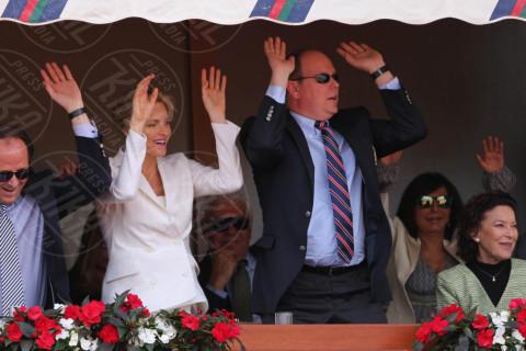 Principe Alberto di Monaco, Principessa Charlene Wittstock - Monte Carlo - 20-04-2014 - Rolex Master Monte Carlo: la gara in doppio è sugli spalti