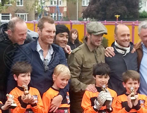 Cruz Beckham, David Beckham - Londra - 27-04-2014 - Star come noi:David Beckham emozionato alla premiazione di Cruz