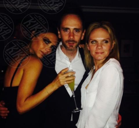 Christian Flood, Louise Flood, Victoria Beckham - Londra - 27-04-2014 - Spice reunion al party per i 40 anni di Victoria Beckham