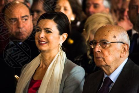 Laura Boldrini, Giorgio Napolitano - Roma - 01-05-2014 - Sgarbi dà della capra alla Boldrini:
