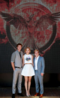 Liam Hemsworth, Jennifer Lawrence, Josh Hutcherson - Cannes - 17-05-2014 - Cannes 2014: il photocall di Hunger Games