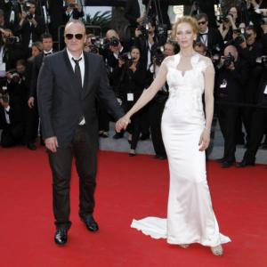 Quentin Tarantino, Uma Thurman - Cannes - 24-05-2014 - Addio a Hubert de Givenchy, lo stilista amato da Audrey Hepburn