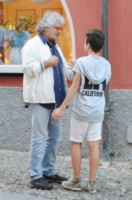 Ciro Grillo, Beppe Grillo - Portofino - 09-06-2014 - Beppe Grillo: dopo le sconfitte niente è meglio della famiglia
