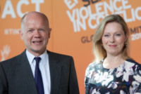 Ffion Jenkins, William Hague - Londra - 13-06-2014 - Angelina Jolie a Londra per fermare la violenza sulle donne