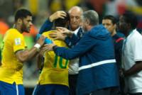 Luiz Felipe Scolari, Neymar, Hulk - San Paolo - 12-06-2014 - Brasile, buona la prima…con l'aiutino
