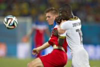 Aron Johannsson, Jonathan Mensah - Natal - 16-06-2014 - Brasile 2014: gli Stati Uniti esordiscono con il Ghana