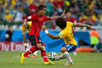 Giovani Dos Santos, Marcelo - Fortaleza - 17-06-2014 - Brasile 2014: il Brasile pareggia a sorpresa con il Messico