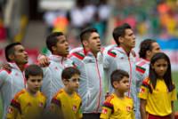 Jose Juan Vazquez, Giovani Dos Santos, Andres Guardado, Hector Moreno, Oribe Peralta - Fortaleza - 17-06-2014 - Brasile 2014: il Brasile pareggia a sorpresa con il Messico