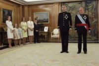Principessa Leonor di Borbone, Juan Carlos  di Spagna, Re Felipe di Borbone, Infanta Elena di Borbone, Sofia di Spagna, Principessa Sofia, Letizia Ortiz - Madrid - 19-06-2014 - Felipe VI è il nuovo re di Spagna: trasparenza per la Corona