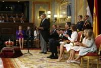 Principessa Leonor di Borbone, Re Felipe di Borbone, Principessa Sofia, Letizia Ortiz - Madrid - 19-06-2014 - Felipe VI è il nuovo re di Spagna: trasparenza per la Corona