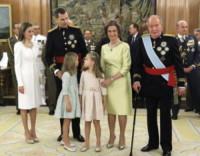 Principessa Leonor di Borbone, Re Felipe di Borbone, Sofia di Spagna, Principessa Sofia, Letizia Ortiz - Madrid - 19-06-2014 - Felipe VI è il nuovo re di Spagna: trasparenza per la Corona