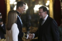 Re Felipe di Borbone, Mariano Rajoy, Letizia Ortiz - Madrid - 19-06-2014 - Felipe VI è il nuovo re di Spagna: trasparenza per la Corona