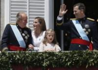 Principessa Leonor di Borbone, Juan Carlos  di Spagna, Re Felipe di Borbone, Letizia Ortiz - Madrid - 19-06-2014 - Felipe VI è il nuovo re di Spagna: trasparenza per la Corona