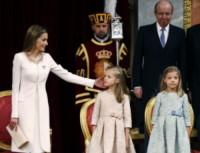 Principessa Leonor di Borbone, Principessa Sofia, Letizia Ortiz - Madrid - 19-06-2014 - Felipe VI è il nuovo re di Spagna: trasparenza per la Corona