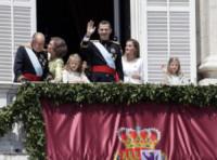 Principessa Leonor di Borbone, Juan Carlos  di Spagna, Re Felipe di Borbone, Sofia di Spagna, Principessa Sofia, Letizia Ortiz - Madrid - 19-06-2014 - Felipe VI è il nuovo re di Spagna: trasparenza per la Corona