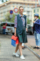 Clara Racz - Milano - 24-06-2014 - Milano Moda Uomo: quando la passerella è en plein air…