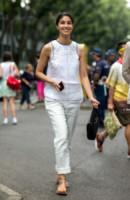 Caroline Issa - Milano - 24-06-2014 - Milano Moda Uomo: quando la passerella è en plein air…