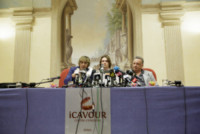 Luca Maori, Giulia Bongiorno, Raffaele Sollecito - Roma - 01-07-2014 - La nuova versione dei fatti di Sollecito sull'omicidio Kercher
