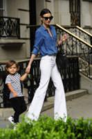Flynn Bloom, Miranda Kerr - New York - 03-07-2014 - Corsi e ricorsi fashion: dagli anni '70 ecco i pantaloni a zampa
