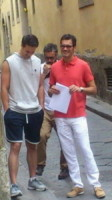 Brett Dalton, Marco Bonini - Firenze - 02-07-2014 - Hollywood in Italia: il backstage di The Tourist visto dal web
