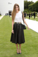Bianca Brandolini d'Adda - Parigi - 07-07-2014 - Camicia bianca e gonna nera: un look… evergreen!