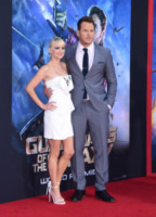 Anna Faris, Chris Pratt - Hollywood - 21-07-2014 - Guardiani della Galassia: la première con pancia sospetta