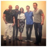 Zoe Saldana, Vin Diesel - 22-07-2014 - Guardiani della Galassia: la première con pancia sospetta
