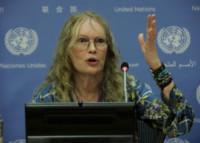 Mia Farrow - New York - 22-07-2014 - Mia Farrow all'Onu difende la Repubblica Centrafricana