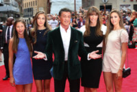 Jennifer Flavin, wife, Sylvester Stallone - daughters - Londra - 04-08-2014 - Il primo red carpet di Antonio Banderas…senza fede al dito!
