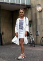 Camilla Norgaard - Copenhagen - 07-08-2014 - Primavera 2015: con il soprabito, le celebs vanno… in bianco!