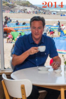 David Cameron - Polzeath - 19-08-2014 - David Cameron, le sue estati segnate dall'espresso…