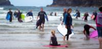 David Cameron - Polzeath - 22-08-2014 - Cameron lascia le acque agitate della politica per il bodyboard