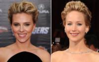 Jennifer Lawrence, Scarlett Johansson - Hollywood - 11-04-2012 - Separati alla nascita: scusa, ma siamo parenti?