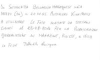 Mariagnese Bellardita, Liberatoria - Pontassieve - Adozioni: addio anonimato. Mariagnese ha vinto